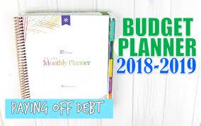 Monthly Budget Planning 2018 2019 Budget Planner Erin Condren Deluxe Monthly
