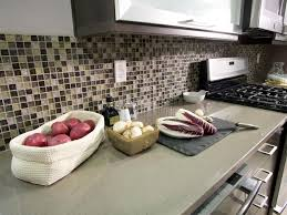 Kitchen glass mosaic backsplash Travertine Shop This Look Hgtvcom Glass Tile Backsplash Ideas Pictures Tips From Hgtv Hgtv
