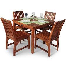 bracken style devon hardwood  seater square dining set – the uk's