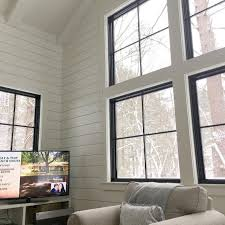 Black window frames and window trim are the perfect frame for your view.