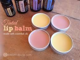 diy all natural tinted lip balm made with essential oils and beet root powder