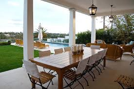 rectangular patio dining table with slatted seat outdoor dining chairs