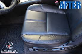 2007 2016 chevy tahoe suburban lt ls ltz z71 leather seat cover driver bottom black