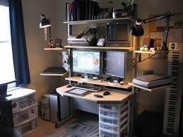 built in office desk plans multi monitor computer workstation