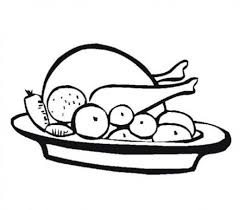 Small Picture Thanksgiving Foods Coloring Sheets Meal Thanksgiving Coloring