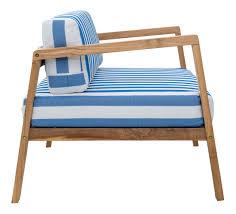 bilander outdoor sofa set blue white stripes