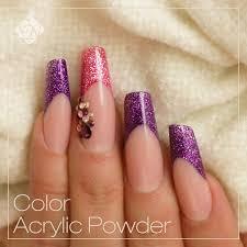 laser brill powder nails designs