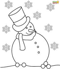 Small Picture Snowman Coloring Pages