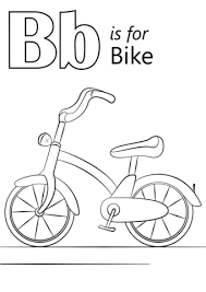 Small Picture Letter B is for Bike coloring page Free Printable Coloring Pages