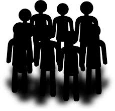 group of people clipart black and white. Contemporary Group Banner Freeuse Download Audience Large Population Free On Dumielauxepices  Net Vector Group Clipart And Of People Clipart Black White U