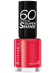 <b>Лак для ногтей</b> 60 Seconds Super <b>Shine</b>, тон 430 Coralicious ...