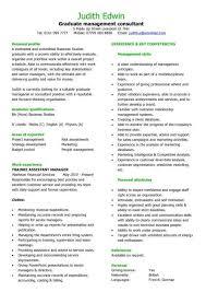 Consulting Resume Templates Graduate Management Consultant Cv Sample Team Leader Cv