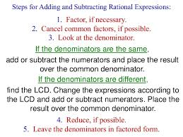 adding subtracting rational expressions like chapter 9 rational expressions