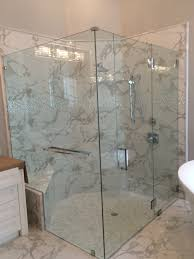 thick 1 2 glass shower door with towel bar and clips