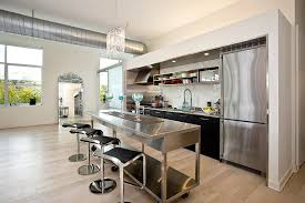 one wall kitchen design with updated style