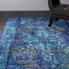 world menagerie tyrese blue area rug reviews wayfair throughout rugs designs 1