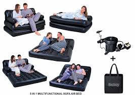 bestway 5in1 inflatable double air sofa chair lounger couch bed mattress w pump