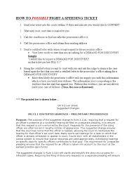 Speeding Ticket How To Fight It Discovery Law Subpoena