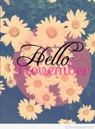 cute hello november flowers saying