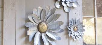 outdoor wall decor metal new 5 galvanized metal flower wall art sculptures indoor