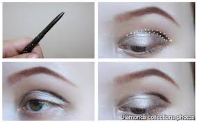 for deep set eyes with protruding brow arches as well as for hooded eyes the crease line you draw should be above the natural one to balance your