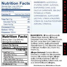 nutrition of almond milk