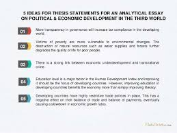 complete guide on writing an analytical essay on political economic   5