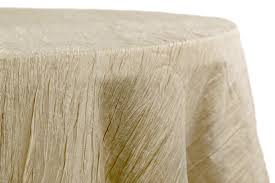 accordion crinkle taffeta 120 round tablecloth champagne
