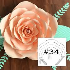 Pearl S Crafts Paper Flower Templates Pdf Yaf Large Rose Template 34 Etsy Blanket Paper