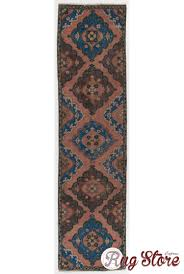 antique washed runner rug 3 x 11 10 92 x 363 cm peach brown and blue color vintage overdyed runner rug turkish overdyed runner rug