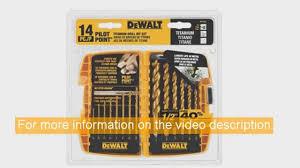 brad point drill bit set. dewalt dw1354 14-piece titanium drill bit set - brad point bits s