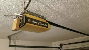 old overhead garage door and opener from 80 s