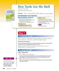 Rigby Guided Reading Levels Chart Guided Reading How Turtle Got His Shell Rigby