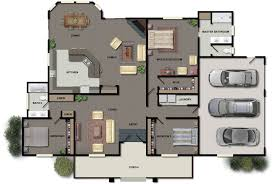 Modern Kitchen And Bedroom Awesome Photo Of Two Bedroom House Plans Large Garage Modern