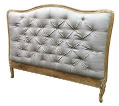 Shabby Chic Headboard French Style Shabby Chic Upholstered Headboard King Size In White