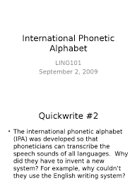 In fact, there are two english languages — the written english and the spoken or phonetic english. International Phonetic Alphabet