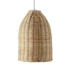 wicker pendant light. Modern Rattan Basket Ceiling Pendant Light Shade In A Natural Wicker Finish