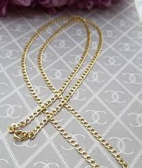 9ct yellow gold curb chain necklace