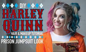 diy harley quinn jumpsuit look