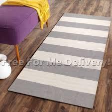 alyssa grey white stripes wool woven modern rug xs 70x120cm free delivery