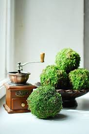 Decorative Moss Balls Natural moss balls set of 60 Christmas decor preserved moss 58