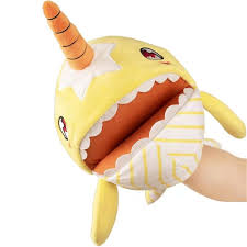 Anglerfish Light Up Plush Childrens Plush Doll Toy Narwhal Fish Hand Control Mouth Up