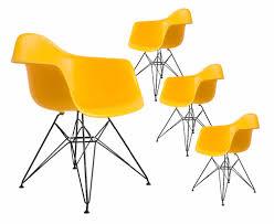Us 4720 4 Stücke Stuhl Set Schwarz Pulverbeschichtung Bein Pp Kunststoff Sitz Modernes Design Minimalistischen Esszimmer Stuhl Beliebt Mode Loft