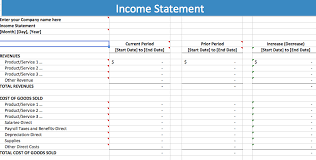 excel income statement business income statement template annual finance report template