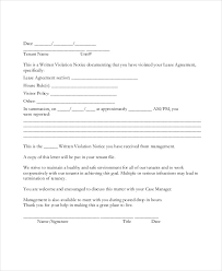 notice of violation template tenant warning letter template 8 free word pdf format download