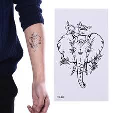 мандала хна сова лиса кошка рыба водонепроницаемый временная татуировка стикер