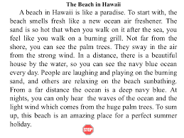 a day at the beach essay co a
