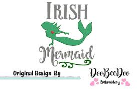 Design Mermaid Irish Mermaid Machine Embroidery Design