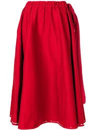 <b>Prada</b> drawstring A-line skirt | skirt | <b>Юбка</b>, Талия и Принты