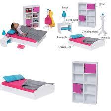 Bedroom Modern Doll Furniture Set For American Girl 18